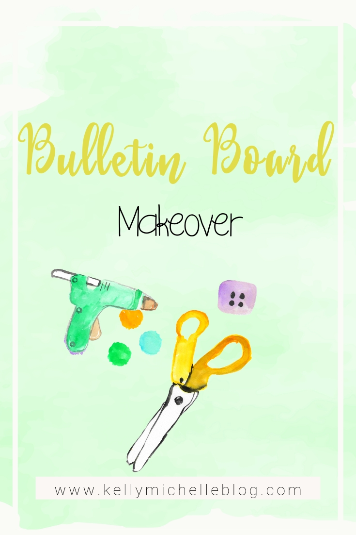 Tutorial to makeover a bulletin board.