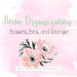 Home Organization through baskets. Organize your living room, closets, and pantry by using baskets to help sort things.