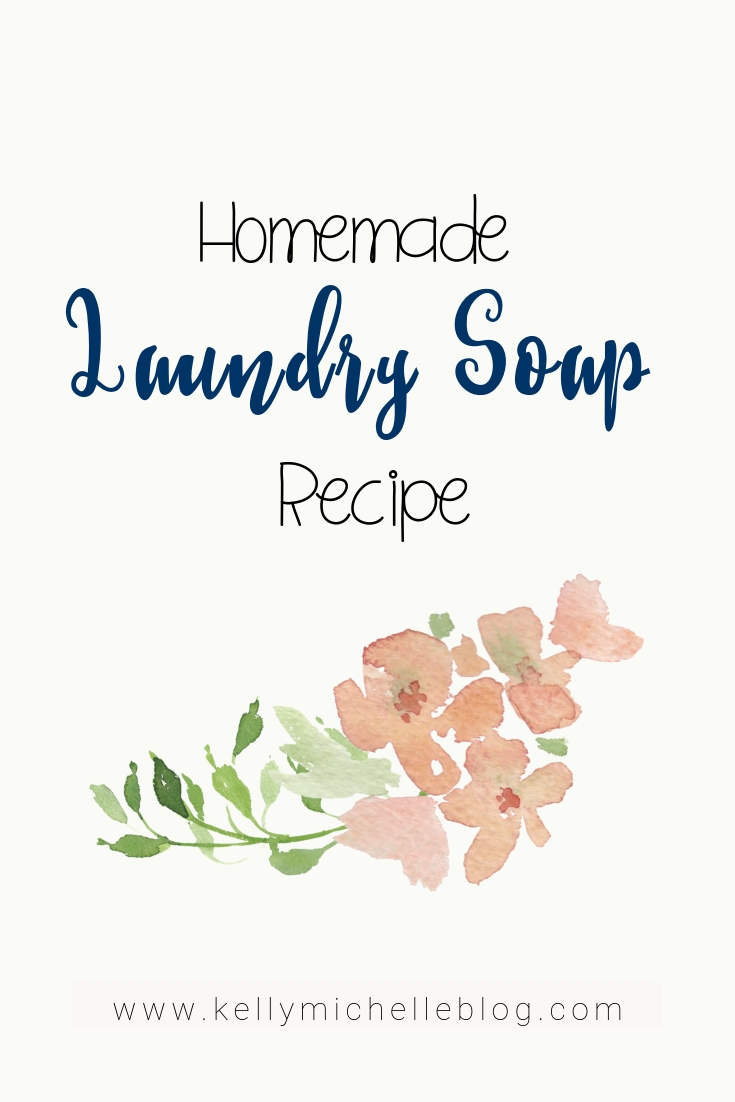 A recipe for homemade and all natural laundry soap