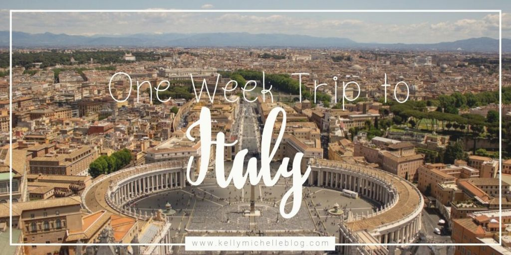Our one week trip to Italy. We traveled to Naples, Positano, and Rome by car in 6 days.