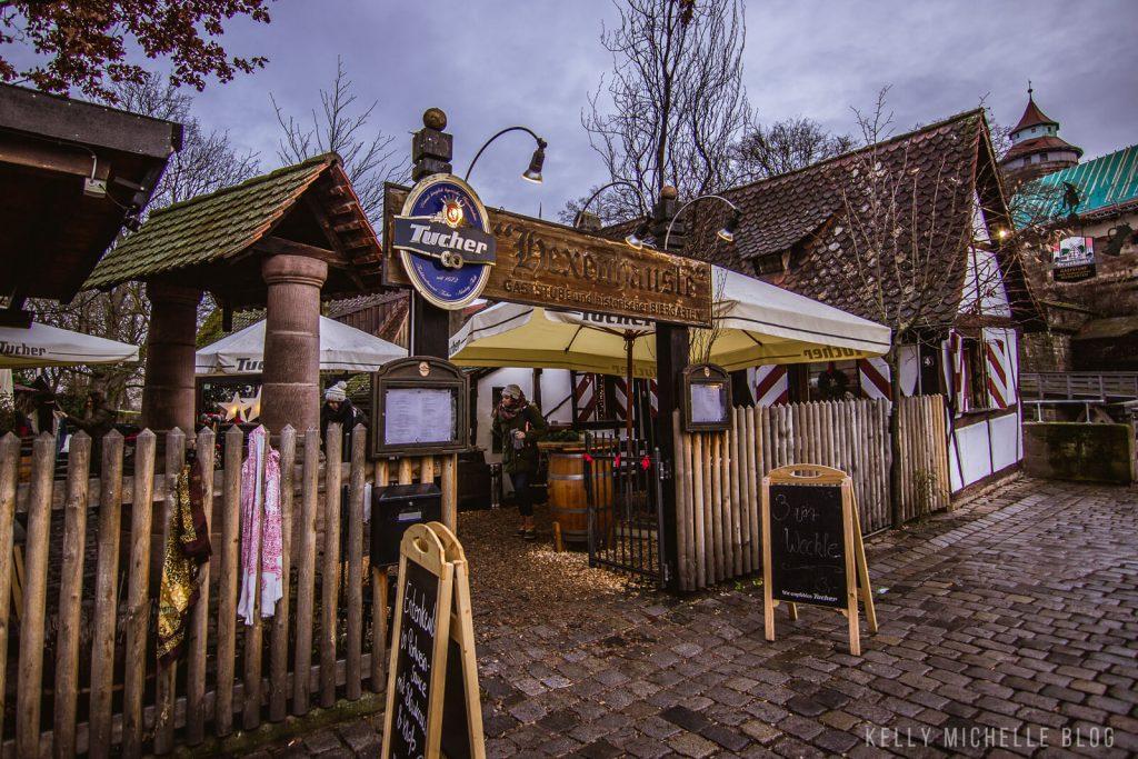 Shot of Brauhaus restaurant and beer garden in Nuremberg.